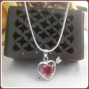 """Jewelry - """"Passionions of the Heart """" Garnet Necklace Set"""